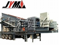 The wheeled mobile crushing station