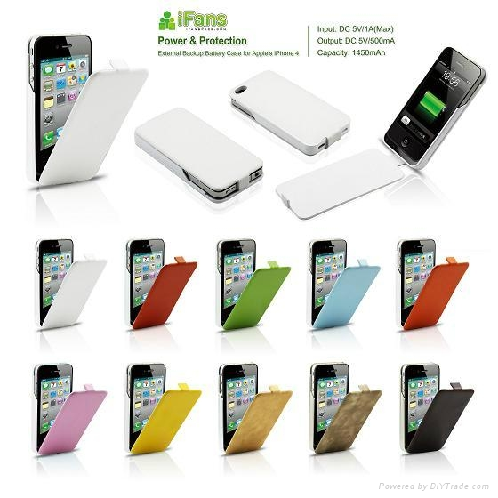 Leather Battery Case for iPhone 4/4S 3
