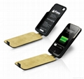 Leather Battery Case for iPone 4/4S