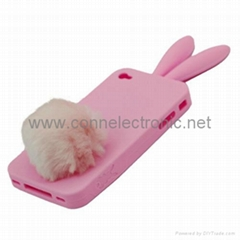 Bunny Rabito Rabbit Rubber Skin Case For iPhone 4