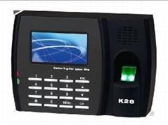 中控K28指紋彩屏考勤機