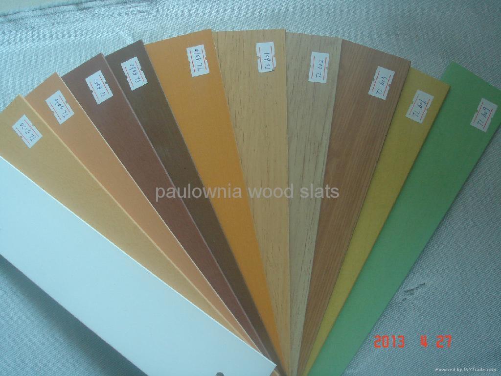 paulowniawood window  blinds slat 1