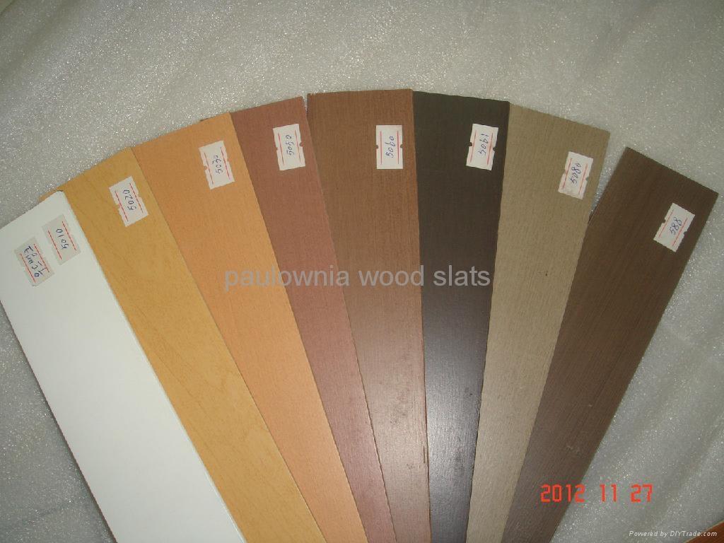 paulowniawood window  blinds slat 2