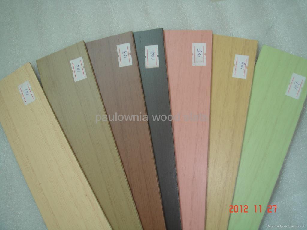 paulowniawood window  blinds slat 4