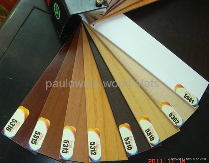 paulownia wooden window roll  blinds 1