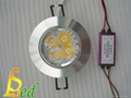 大功率 220V 4W 高光外環天花燈 3