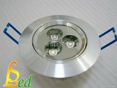 大功率 220V 3W 高光外環天花燈