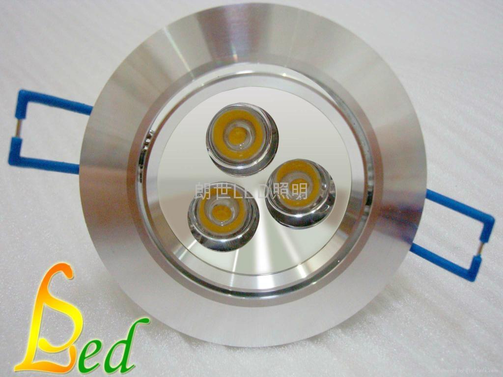 大功率 220V 3W 高光外環天花燈 2