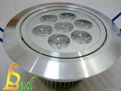 大功率LED 220V 7W 高光斜邊天花燈