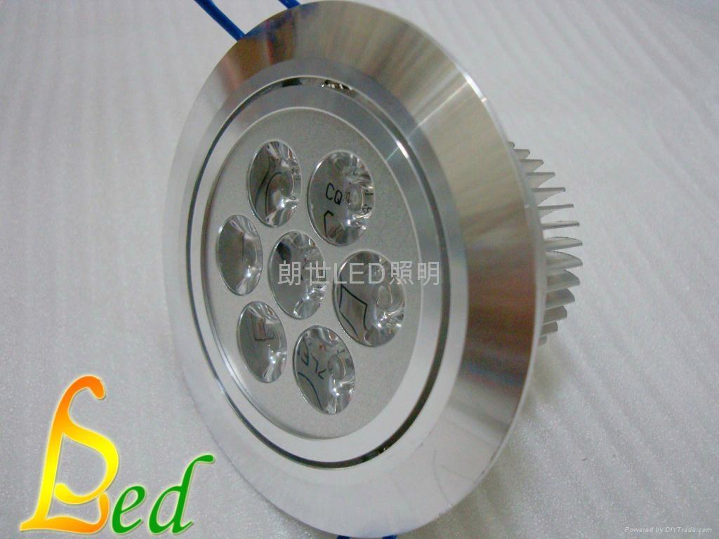 大功率LED 220V 7W 高光斜邊天花燈 2