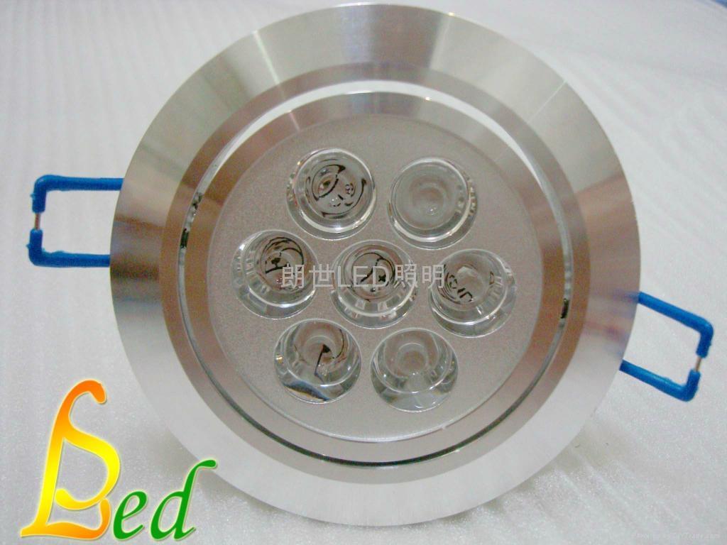 大功率LED 220V 7W 高光斜邊天花燈 3