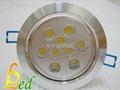 大功率LED 220V 9W 高光斜邊天花燈 2