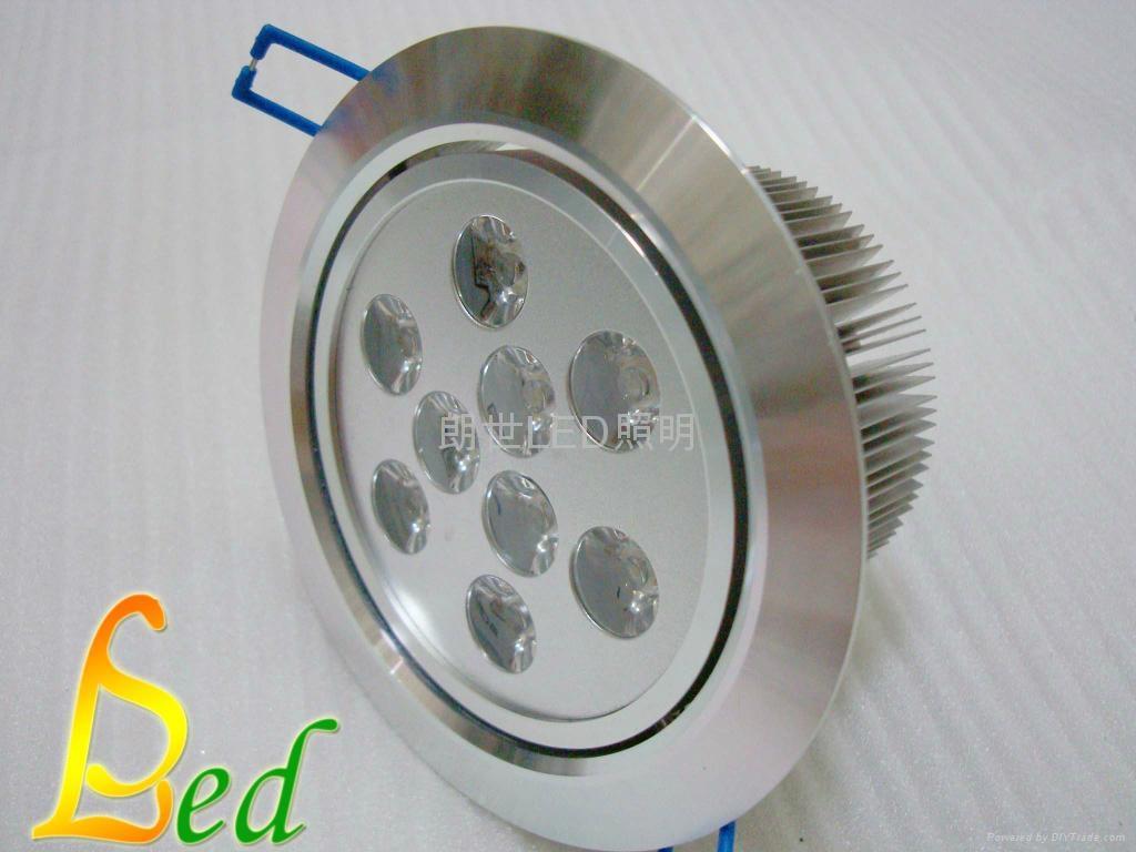 大功率LED 220V 9W 高光斜邊天花燈 3
