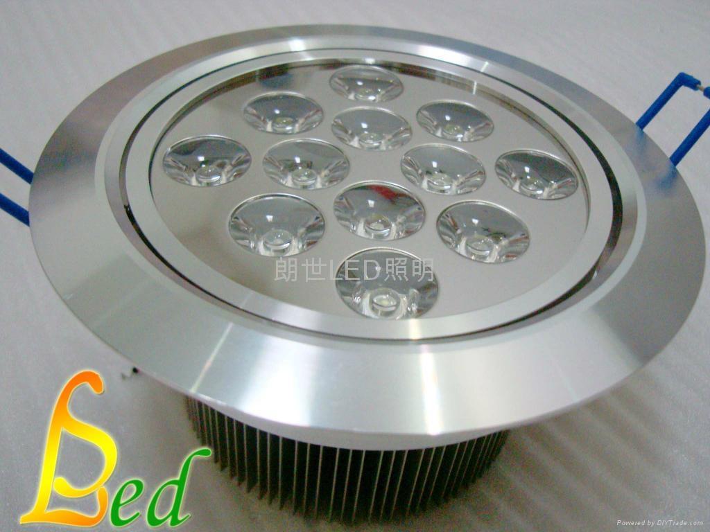 大功率LED 220V 12W 高光斜邊天花燈 1