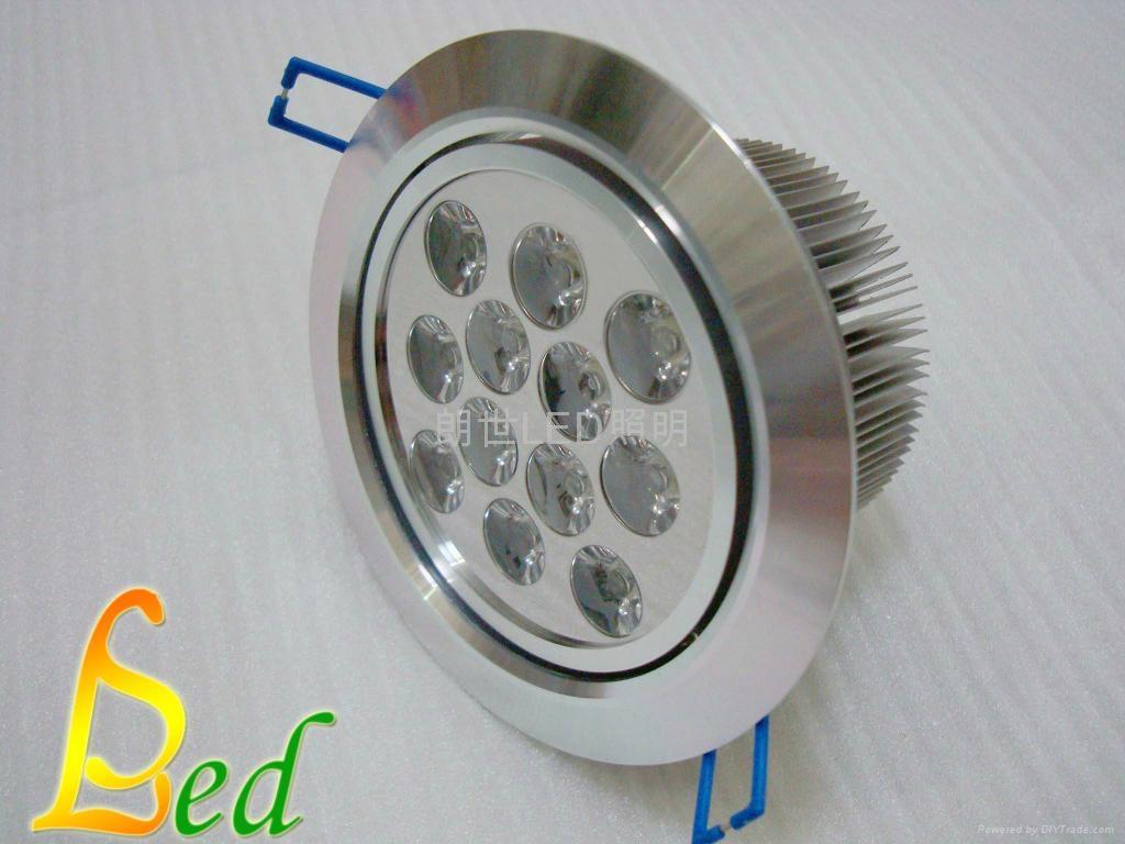大功率LED 220V 12W 高光斜邊天花燈 3