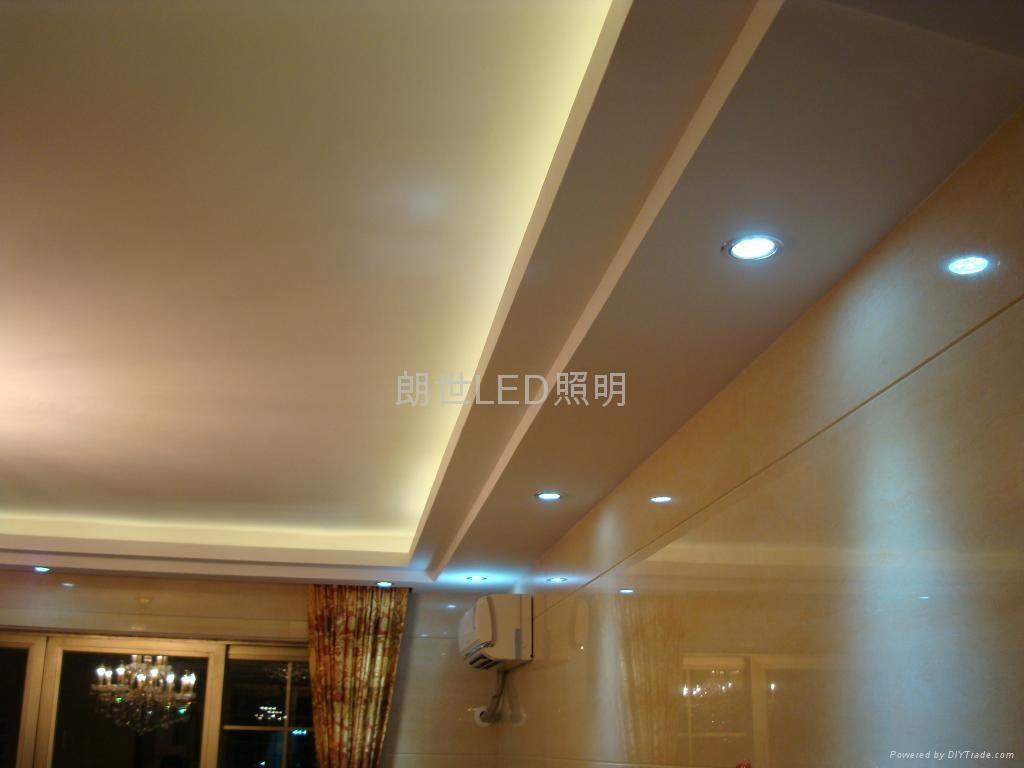 大功率LED 220V 12W 高光斜邊天花燈 4