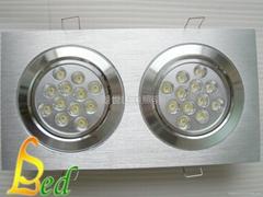 大功率LED 220V 24W 亮銀版面組合天花燈