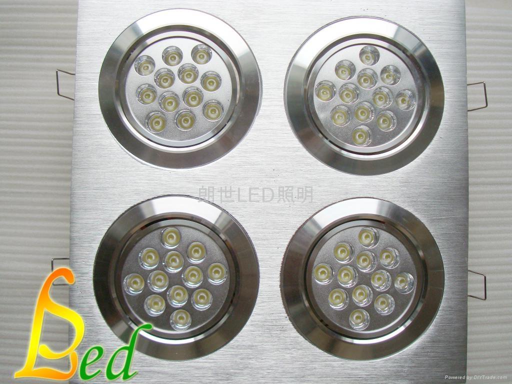 大功率LED 220V 48W 四頭豆膽組合天花燈 1