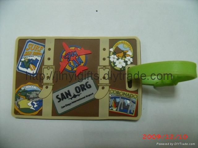 Customed Soft PVC Luggage Tag 2
