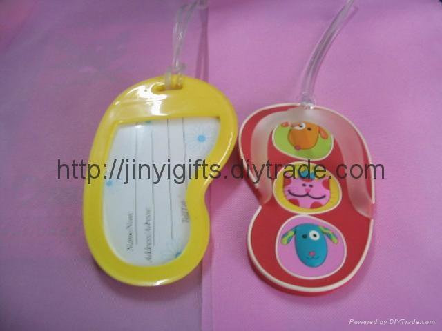 Customed Soft PVC Luggage Tag 3