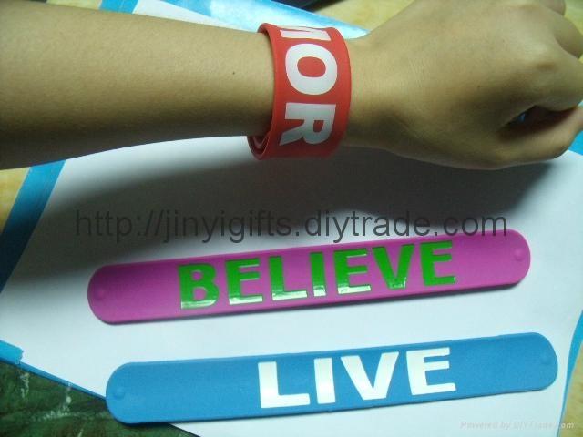 Fashion silicone Slap Bracelet 2