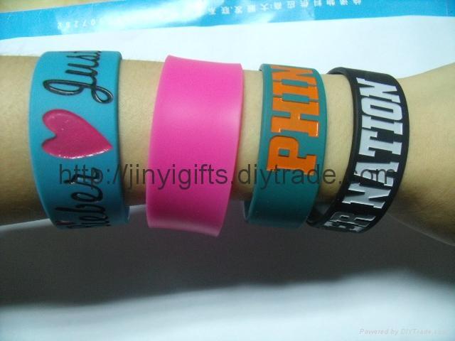 Fashion silicone Slap Bracelet 4