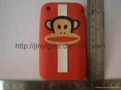 Silicone Case for Iphone 4G Mobile Phone