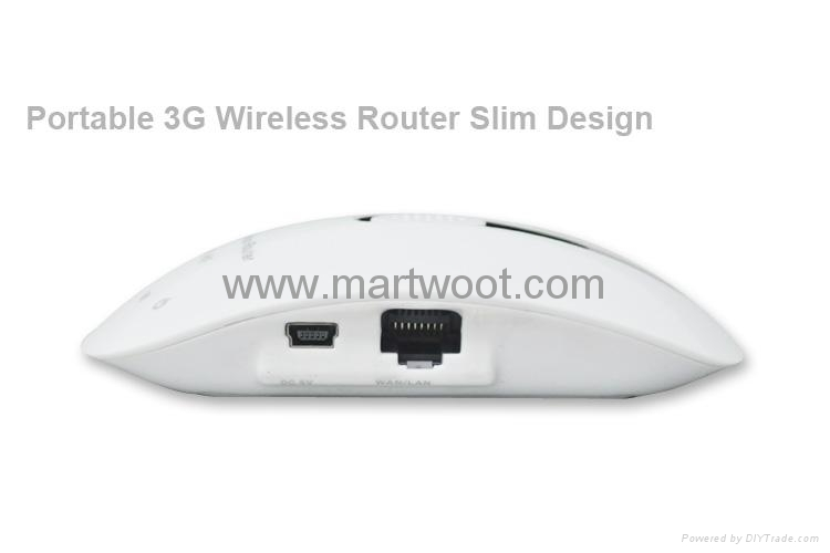 Portable 3g Wireless Router Slim Design White Version Mwpc Wf017 Martwoot China Trading