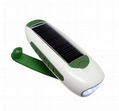 XLN-280B Crank dynamo solar flashlight radio