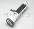 XLN-285 Crank dynamo solar flashlight radio