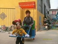 机器人拉黄包车