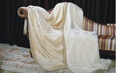 野蚕丝保健双面毯