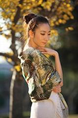 野蚕丝喷花围巾