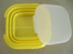 硅胶折叠饭盒