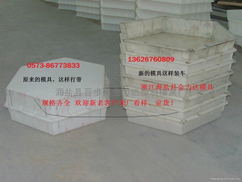 六角砖水库护坡砖塑料模具 1