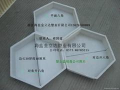 重庆沿江旅游六角形水泥砖塑料模具