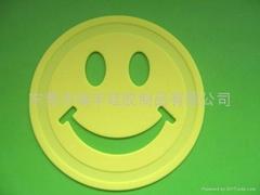 供应食品级硅胶材料笑脸硅胶垫