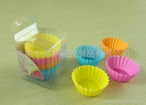 供應暢銷迷你硅膠蛋糕杯 1