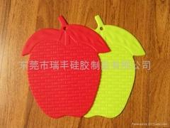 可爱草莓硅胶隔热垫