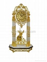 Antique Royal Triumphal Arch World Floor Clock
