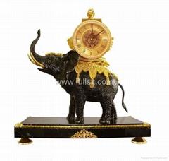 Antique Royal Elephants Art Clocks for Sale