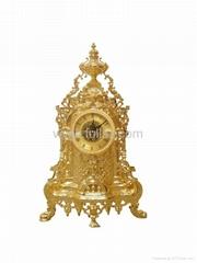 Antique Royal Baroque Decorative Clock Gold