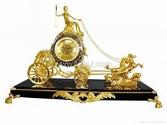 Antique Royal Double Deer Desk Clock