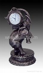 Home Decorative Antique Elephant Mantel Table Clock