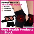 Magnetic ankle wraps pad coated with tourmaline
