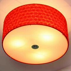 Selling 3*E14 40W various color fabric ceiling lamp