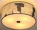 Selling 3*E14 40W various color fabric ceiling lamp 4