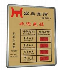 LED 數碼房價表