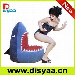 Shark bean bag cover