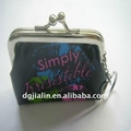 fashion waterproof pvc coin purse with kiss lock